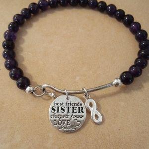 Jewelry - Best Friends Sisters Sterling Beaded Bracelet